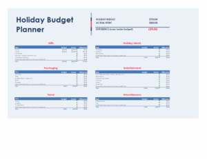 Holiday budget planner feature image