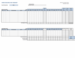 Operations employee timecard feature image