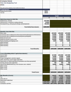 Web site budget tool feature image