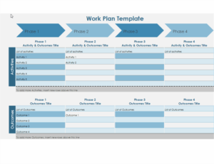 Work Plan Timeline excel template feature image