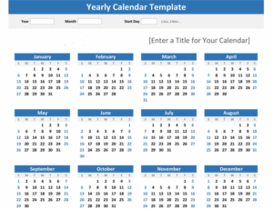 Year At a Glance Calendar Feature Image