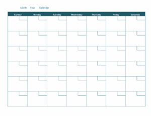 blank monthly calendar feature image