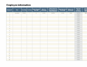 Employee payroll calculator excel template feature image
