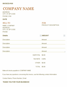 Invoice excel template feature image