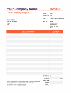 Invoice with tax calculation excel template feature image