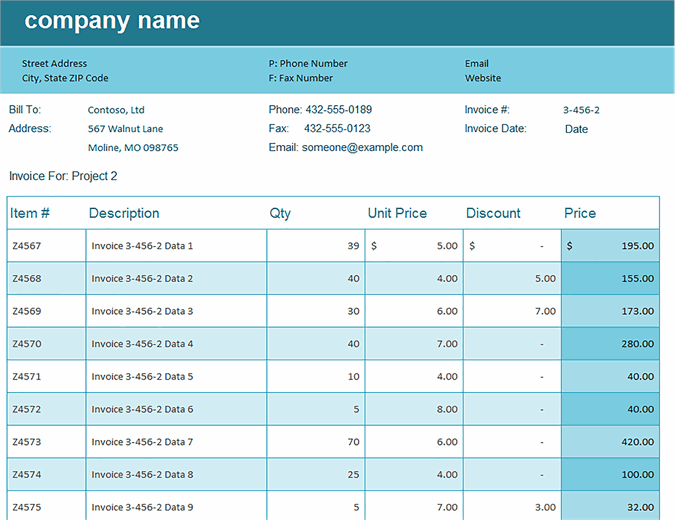Sales invoice tracker excel template feature image