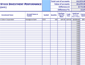 Stock investment performance tracker feature image