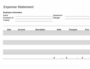 Travel expense statement feature image