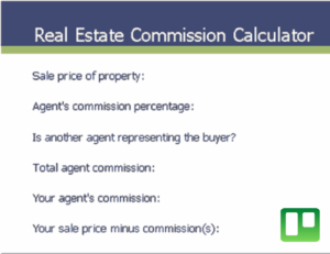 Real estate commission calculator excel template feature image