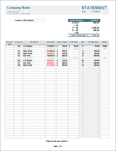 Invoice Tracker Excel Template Feature Image